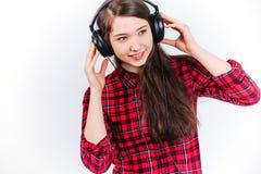 lyssnande musik för barn Arkivbilder