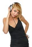 lyssnande musik för flicka fotografering för bildbyråer