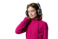 lyssnande musik för flicka till Royaltyfria Foton