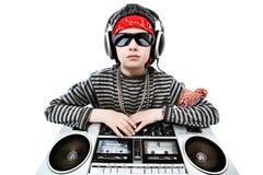 lyssnande musik till Royaltyfri Fotografi