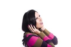 lyssnande musik till Arkivfoto