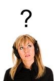 lyssnande musikkvinna Royaltyfri Foto