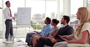 lyssnande presentationslag för affär till stock video