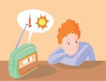 lyssnande radio till stock illustrationer
