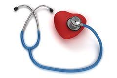 lyssnande stetoskop för hjärta till Royaltyfri Foto