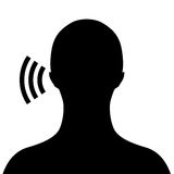 Lyssnande symbol för vektor Arkivfoto