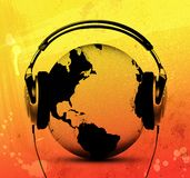 lyssnande värld Royaltyfri Foto
