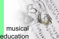 Lyssnar bakgrund för kursmusikanmärkningar Arkivfoton