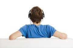 Lyssnar musik Royaltyfria Foton