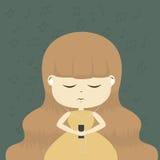lyssnar musik Royaltyfri Fotografi