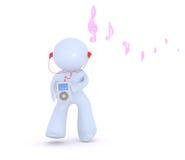 lyssnar musik till Royaltyfria Foton