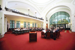 Lyssnare på Ryssland Marine Industry Conference Royaltyfria Foton