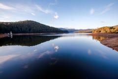 Lysterfield sjö på solnedgången Fotografering för Bildbyråer