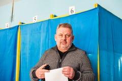 Lysychansk, de Oekra?ne - de Verkiezing van 03-31-2019 van de President van de Oekra?ne stock foto