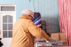 Lysychansk, de Oekra?ne - de Verkiezing van 03-31-2019 van de President van de Oekra?ne stock fotografie