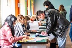 Lysychansk, Ucrania - elecci?n 03-31-2019 del presidente de Ucrania fotos de archivo