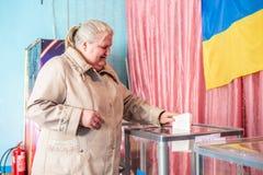 Lysychansk, Ucrania - elecci?n 03-31-2019 del presidente de Ucrania imagen de archivo