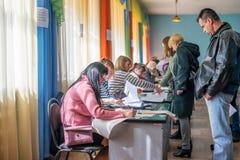 Lysychansk, Ucrania - elecci?n 03-31-2019 del presidente de Ucrania imagenes de archivo