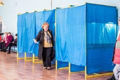 Lysychansk, Ucrania - elecci?n 03-31-2019 del presidente de Ucrania imágenes de archivo libres de regalías