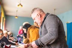 Lysychansk, Ukraina - 03-31-2019 prezydent Ukraina wybory zdjęcie royalty free