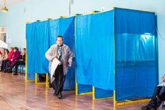 Lysychansk, Ukraina - 03-31-2019 prezydent Ukraina wybory obraz stock