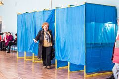 Lysychansk, Ukraina - 03-31-2019 prezydent Ukraina wybory obrazy royalty free