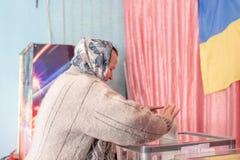 Lysychansk, Ukraina - 03-31-2019 prezydent Ukraina wybory fotografia royalty free