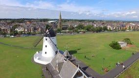 LYTHAM. Awesome windmill at Lytham Royalty Free Stock Photo