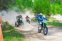 LYTKARINO,莫斯科地区,俄罗斯- 2013年5月18日:摩托车越野赛杯子mo 库存图片
