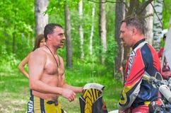 LYTKARINO,莫斯科地区,俄罗斯- 2013年5月18日:摩托车越野赛杯子mo 免版税图库摄影