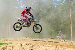 LYTKARINO, MOSKAU-REGION, RUSSLAND - 18. Mai 2013: Motocrossschale MO Stockbild