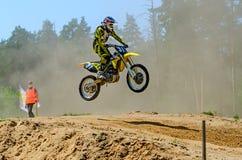 LYTKARINO, MOSKAU-REGION, RUSSLAND - 18. Mai 2013: Motocrossschale MO Stockfotografie