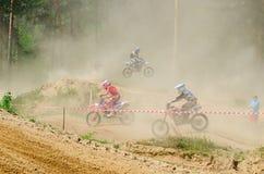 LYTKARINO, MOSKAU-REGION, RUSSLAND - 18. Mai 2013: Motocrossschale MO Lizenzfreies Stockbild