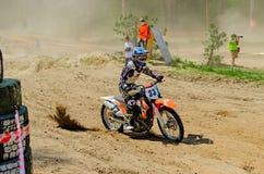 LYTKARINO, MOSKAU-REGION, RUSSLAND - 18. Mai 2013: Motocrossschale MO Stockfoto