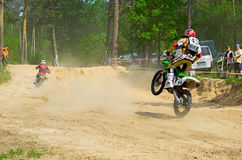 LYTKARINO, MOSKAU-REGION, RUSSLAND - 18. Mai 2013: Motocrossschale MO Lizenzfreie Stockfotos