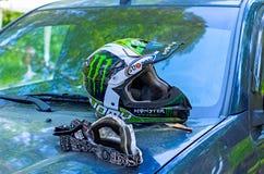 LYTKARINO, MOSKAU-REGION, RUSSLAND - 18. Mai 2013: Motocrossschale MO Stockbilder