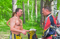 LYTKARINO, RÉGION de MOSCOU, RUSSIE - 18 mai 2013 : tasse MOIS de motocross Photographie stock libre de droits