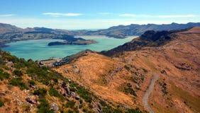 Lyttelton Крайстчёрч - Новая Зеландия стоковое изображение rf