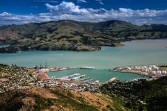 Lyttelton, Canterbury, Nuova Zelanda Fotografia Stock