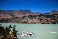 Lyttelton Canterbury, Nya Zeeland Fotografering för Bildbyråer