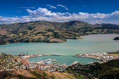 Lyttelton Canterbury, Nya Zeeland Arkivfoton