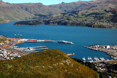 Lyttelton harbour New Zealand Royalty Free Stock Photography