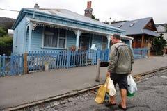 Lyttelton - Nueva Zelanda Imagen de archivo