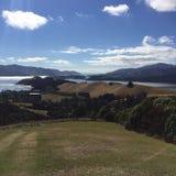 Lyttleton-Hafen, Canterbury NZ Lizenzfreie Stockfotos