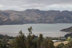 Lyttleton-Hafen, Canterbury NZ Lizenzfreie Stockbilder