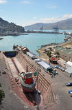Lyttleton trockenes Dock, Christchurch Neuseeland Lizenzfreies Stockbild