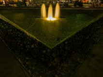 Lytton Plaza Fountain. Night view of Lytton Plaza Fountain in Palo Alto, CA royalty free stock images