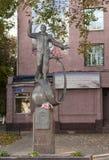 Lyubertsy Ryssland Monumentet till den första kosmonautet Yuri Gagarin Royaltyfri Foto