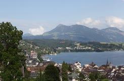 Lyutsern.Vid met Mannli-toren. royalty-vrije stock fotografie