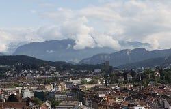 Lyutsern.Vid mit Mannli-Turm. Stockfoto